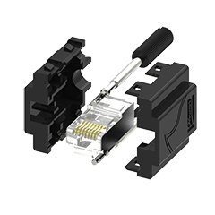 GigE Vertical Assemblable DIY Connector Plug Kit