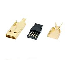 USB 2.0 Type A Assemblable DIY Connector Plug Kit